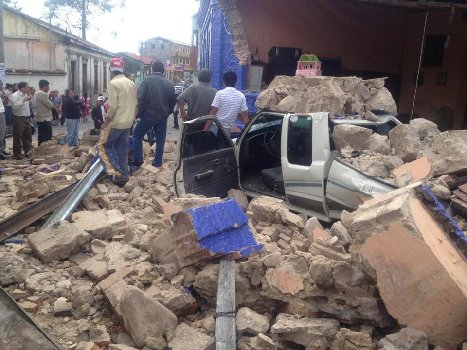 Destructive earthquake in Guatemale 2017